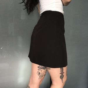 Classic black mini skirt asos